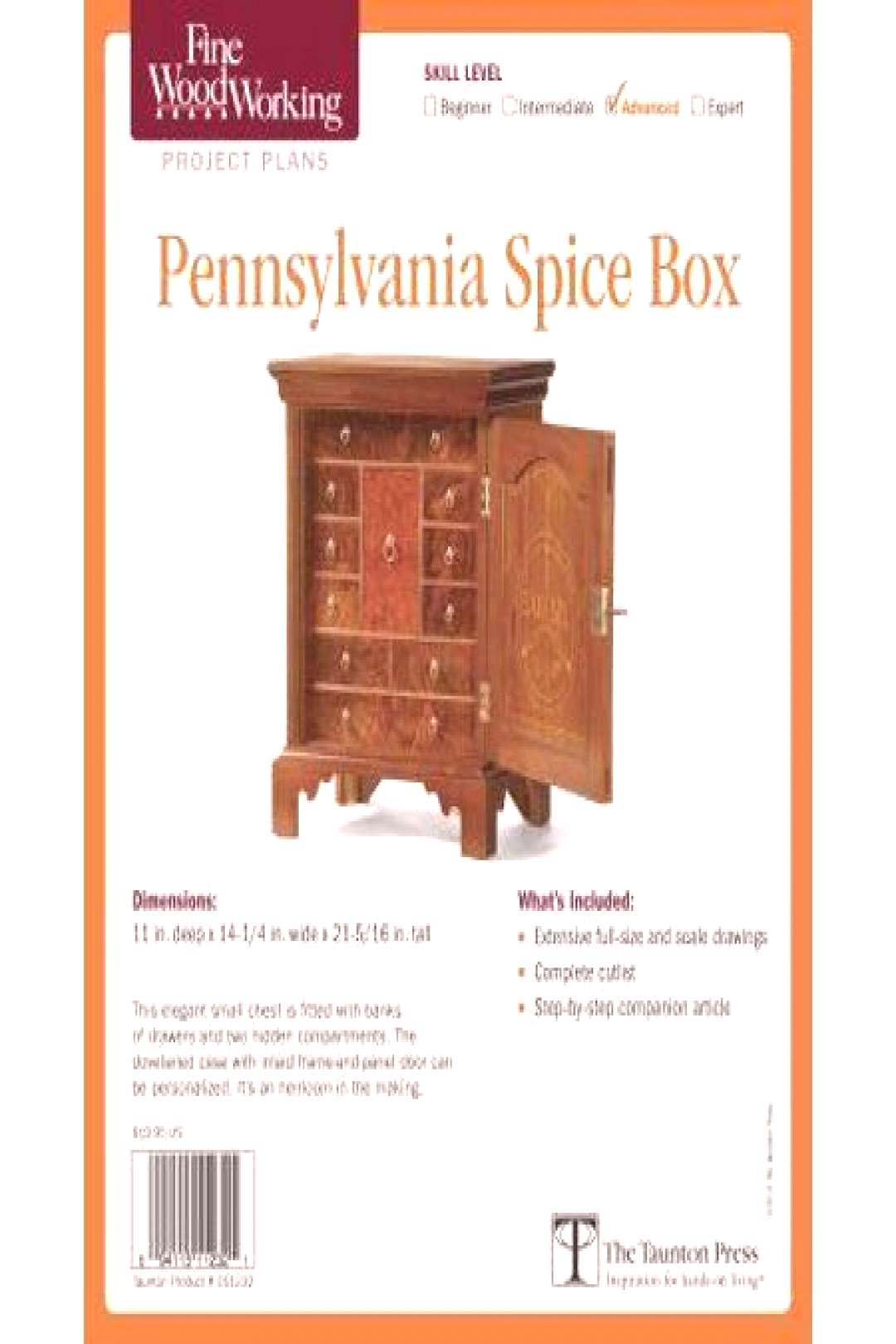 Fine Woodworking's Pennsylvania Spice Box Plan (Other) -   Fine Woodworking's Pennsylvania