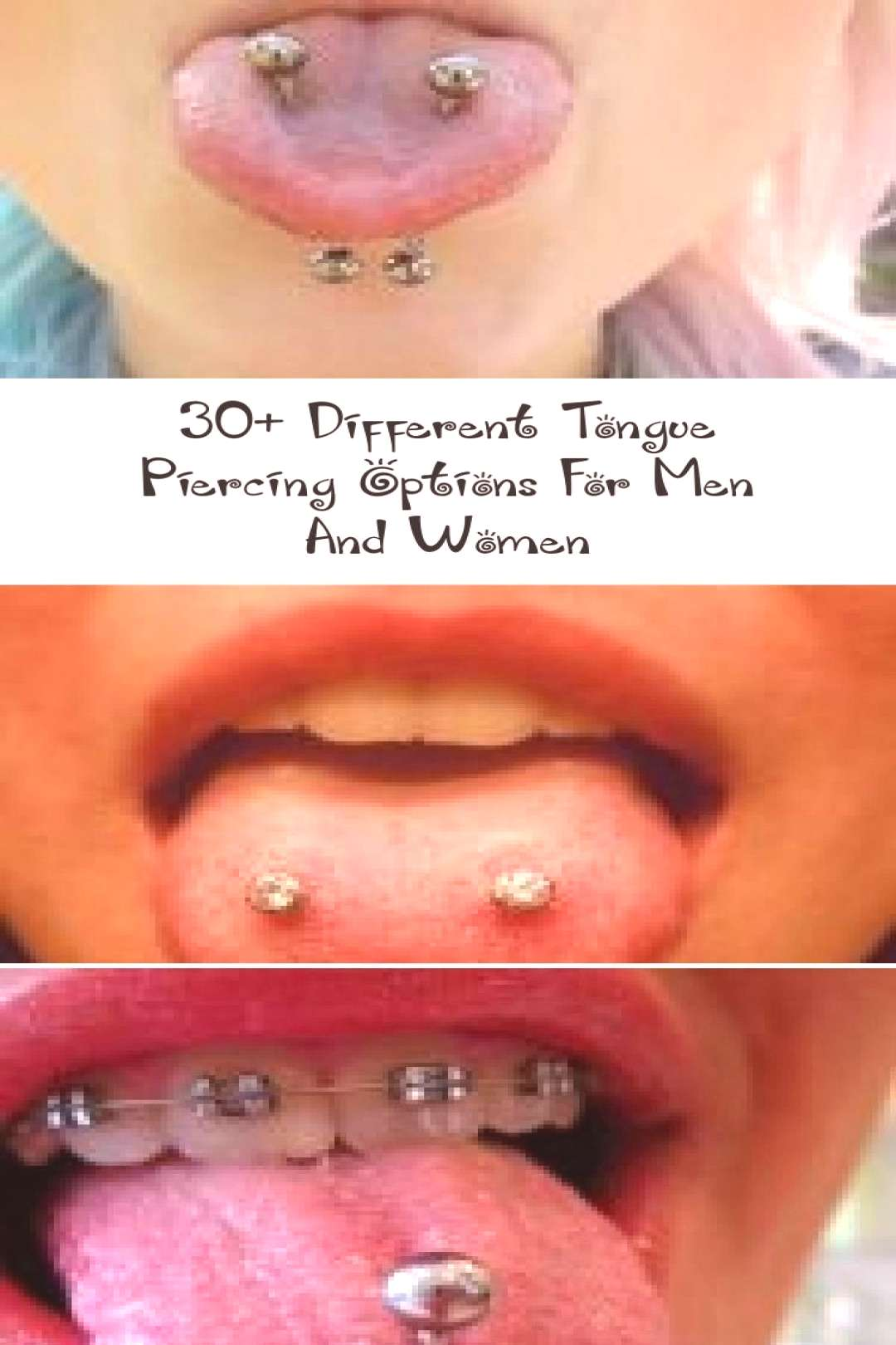 30+ different tongue piercing options for men and women - PIERCINGS - 3 ... - 30+ different tongue