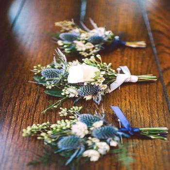Floral Designer in Lancaster County, Pennsylvania. For these blue and white bout... Blumende