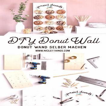 ... peanut butter cream donuts + DIY donuts wall ... Werbung / Donut Wand selber machen Donut Wall