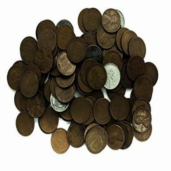 1 P, D, S Wheat Pennies Collection of 100 Various Dates +