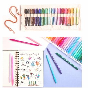 12/24/36 Water Color Drawing Pens Kit with Carrying Pen Bag Multi Fine Liner for Marker Highlight W
