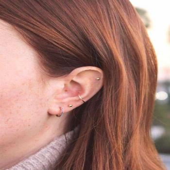 4 Multiple Earring Looks To Try Now -  Le Fashion Blog Multiple Piercings Red Hair Ariel Gordon Hug
