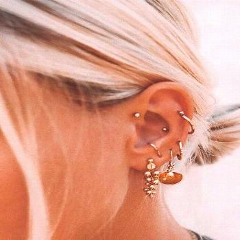 46 Ear Piercings for Women Beautiful and Cute Ideas - - Pinspace -