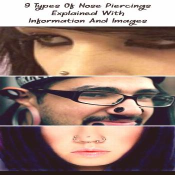 9 types of nose piercings explained with information and pictures - PIERCINGS - ... -  9 types of n