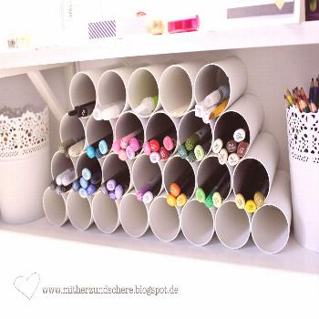 A really good idea for pens and co - on, above or next to the desk ... -  A really good idea for pe
