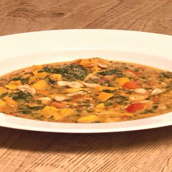 African peanut stew – cipes This African peanut stew is vegan with carrots, sweet potatoes, bell