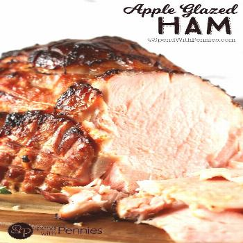 Apple Glazed Baked Ham - Spend With Pennies -