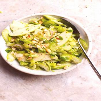 Apple Salad with Celery and Peanuts (vegan, gluten-free) -