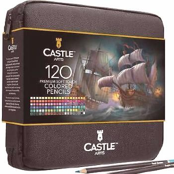 Art Supply Set 120 Colored Pencils Premium Soft Touch Durable Basswood Blending