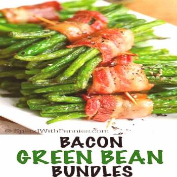 Bacon Wrapped Green Bean Bundles - Spend With Pennies