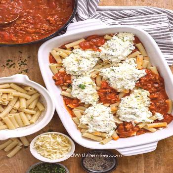 Baked Ziti Recipe (easy to make) - Spend With Pennies - -