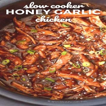 BEST Slow Cooker Honey Garlic Chicken - Spend With Pennies - Slow cooker recipes -
