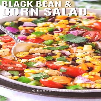 Black bean and lamb's lettuce {finished in 20 minutes} - donation with pennies - -
