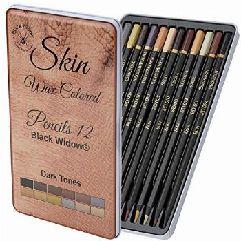 Black Widow Skin Colored Pencils for Adults - Color Pencils