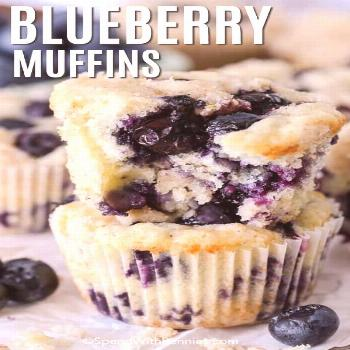 Blueberry Muffins - Spend With Pennies - -
