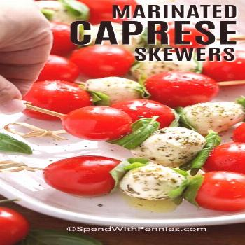 Caprese Skewers - Spend With Pennies-#Caprese Caprese skewers are a tasty combination of cherry tom