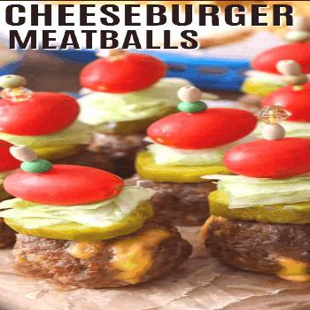 Cheeseburger Stuffed Meatballs - Spend With Pennies -