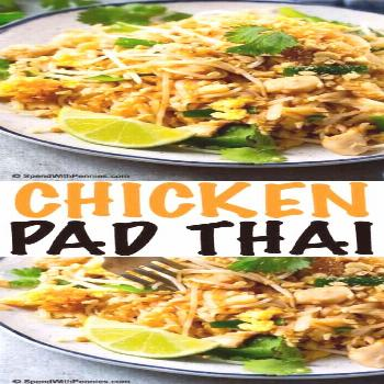 Chicken Pad Thai - Spend With Pennies -  This chicken pad thai is just like the restaurant version,