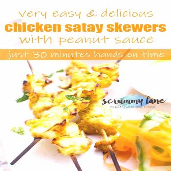 Chicken satay skewers with peanut sauce If you love easy chicken dinners and Asian flavours, you'll