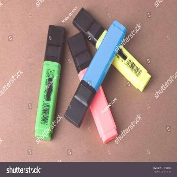 Close-up of highlighter pens ,