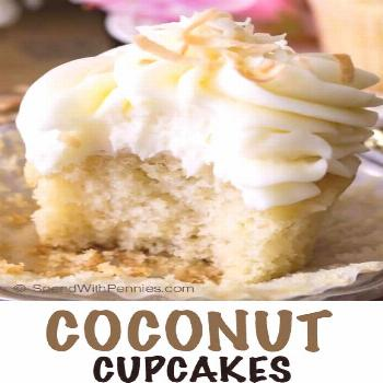 Coconut Cupcakes - Spend With Pennies - -