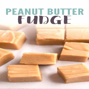 Creamy peanut butter fudge made with 6 simple ingredients.