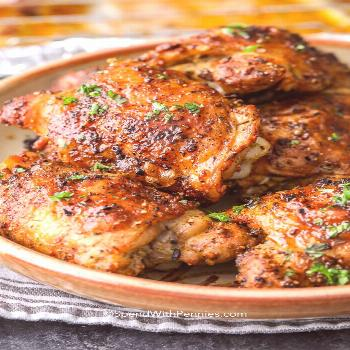 Crispy Baked Chicken Thighs {Perfect every time} - Spend With Pennies  - Recipes -