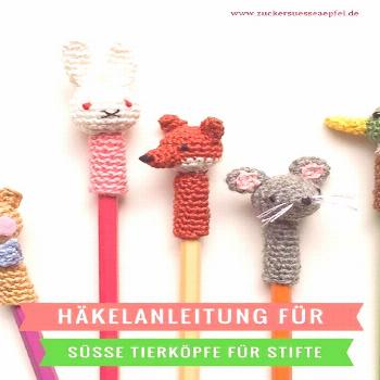 Crochet cute animal heads for pens yourself Crochet cute animal heads for pens yourself,