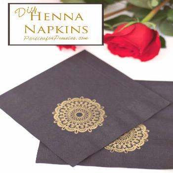 DIY Henna Napkins - Parties for Pennies,  DIY Henna Napkins - Parties for Pennies,   Diy Abschnitt,