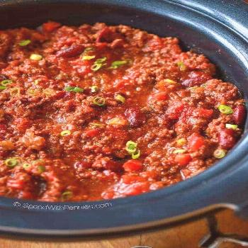 Easy Crock Pot Chili Recipe - Spend With Pennies ,  Easy Crock Pot Chili Recipe - Spend With Pennie