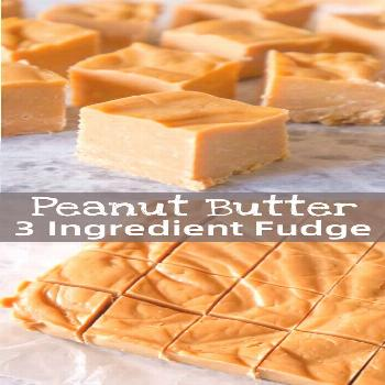 Easy Peanut Butter Fudge is an easy three ingredient microwave fudge recipe made with vanilla frost