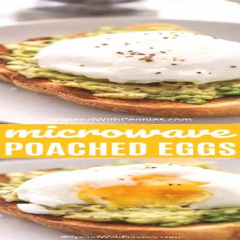 Easy Poached Eggs - Spend With Pennies -  These easy microwave poached eggs are one of the best way