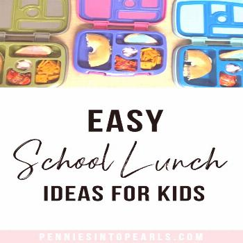 Easy School Lunch Ideas for Kids - Pennies into Pearls,  Easy School Lunch Ideas for Kids - Pennies