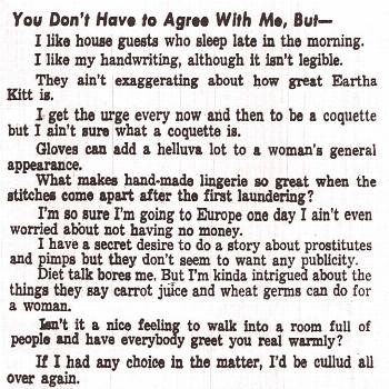 Evelyn Cunningham in the Pittsburgh Courier, Pennsylvania, April 4, 1953 -