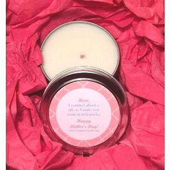 Funny Stretch Mark Mothers Day Candle
