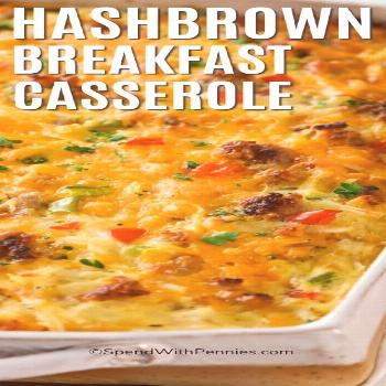 Hashbrown Breakfast Casserole {Make-Ahead!} - Spend With Pennies -  Hashbrown breakfast casserole i