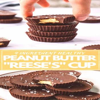 Healthy Peanut Butter Cups | Homemade Healthy Peanut Butter Cups with just 4 simple Ingredients! Th