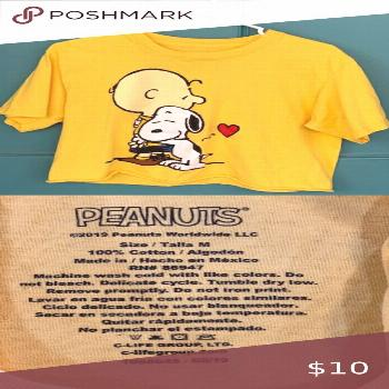 I just added this listing on Poshmark: Cropped Peanuts Shirt- Yellow.