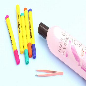 I Turned Markers Into Nail Polish Remover Pens -  I Turned Old Markers Into Nail Polish Remover Pen