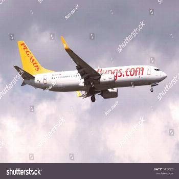 Istanbul \u002F Turkey - March 30, 2019: Pegasus Airlines Boeing 737-800 TC-CPL passenger plane arr