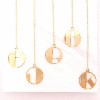 I've just found Personalised Deco Initial Pendant Necklace. Our gold 'deco' style initial pendants