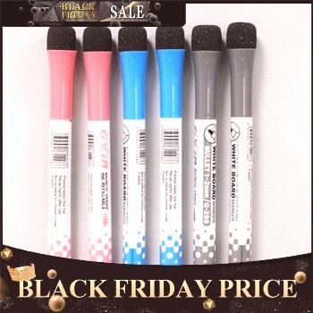 Magnetic Easy Wipe Marker Pen Non-Toxic Portable Cute WhiteBoard Pen with Eraser Office School Supp