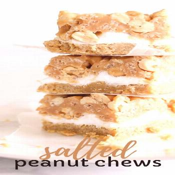 Make this easy dessert today or pin for later! Salted peanut chews - a Pillsbury winner dessert rec