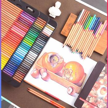 MARCO Art Design Professional Oil Color Pencil Student Painting Special Iron Box Color Pencils for