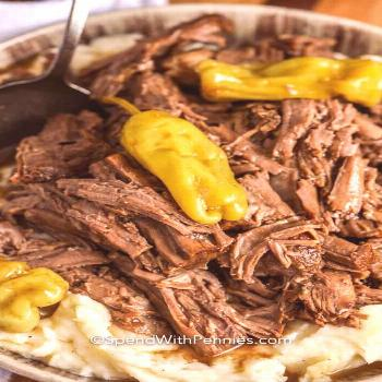 Mississippi Pot Roast {Slow Cooker!} - Spend With Pennies -  This Mississippi pot roast recipe can