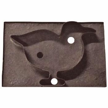 Old 6.5 Inch Pennsylvania  Bird Soldered Tin Cookie Cutter with Strap Handle -  Old 6.5 Inch Pennsy