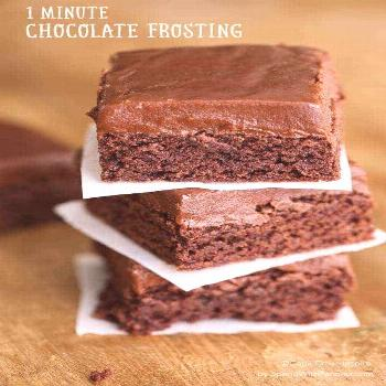 One Minute Easy Chocolate Frosting - Spend With Pennies -