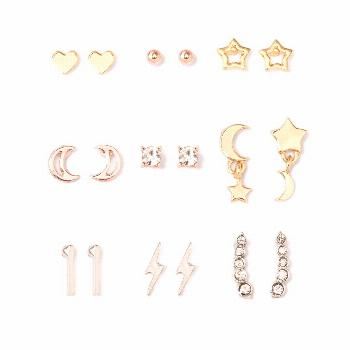 Open Star, Moon, Heart Stud Earring Set 9ct - Wild Fable , Women's, MultiColored