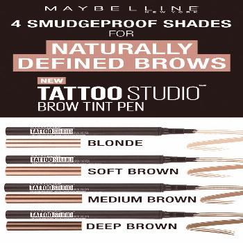Our TattooStudio Brow Tint Pens are available in 4 smudge-proof shades. Create n...,  Our TattooStu